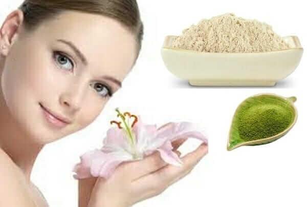 Cách làm mặt nạ trị mụn bằng bột trà xanh và cám gạo