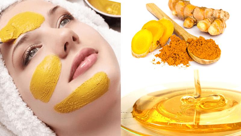 Mặt nạ nghệ tươi và mật ong