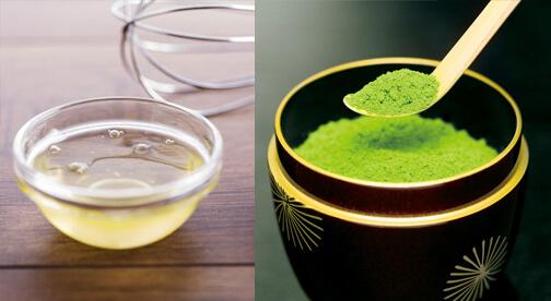 Trị mụn bằng bột trà xanh và nước cốt chanh tươi