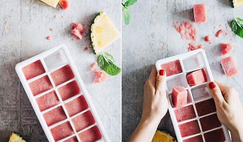 Phương pháp trị mụn bằng cà chua đông đá