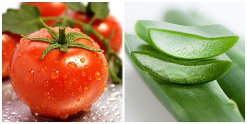 Phương pháp trị mụn bằng cà chua và gel lô hội
