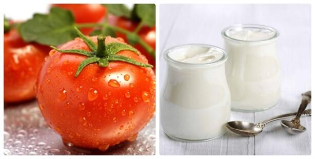 Phương pháp trị mụn bằng cà chua và sữa chua