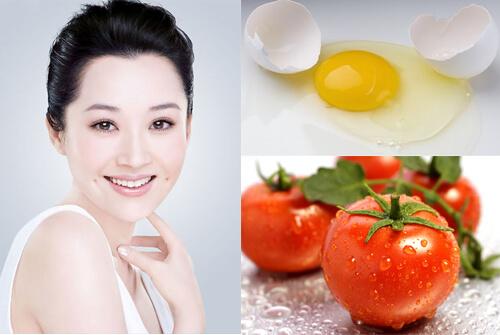 Phương pháp trị mụn bằng cà chua và trứng gà