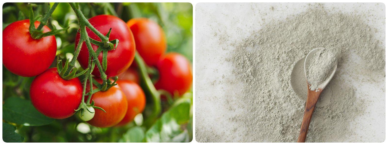 Trị mụn bằng cà chua và bột đất sét