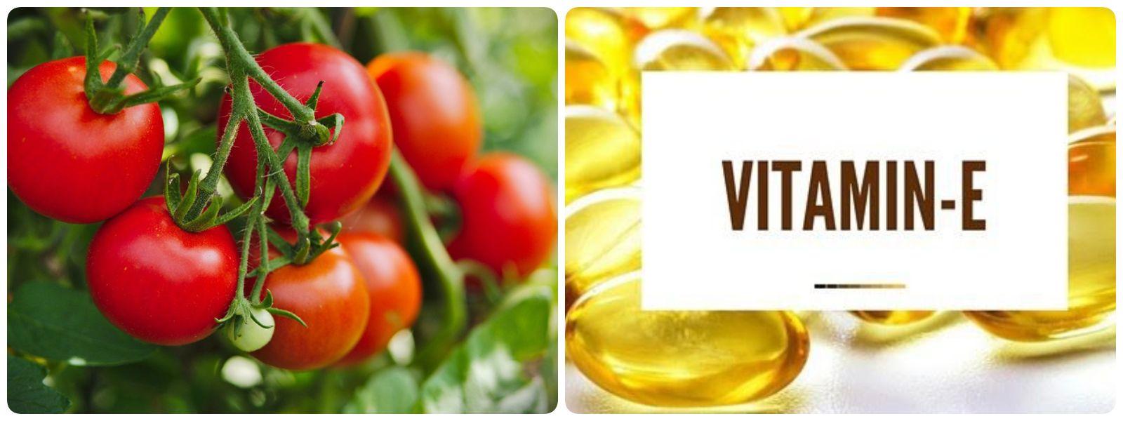 Trị mụn bằng cà chua và Vitamin E