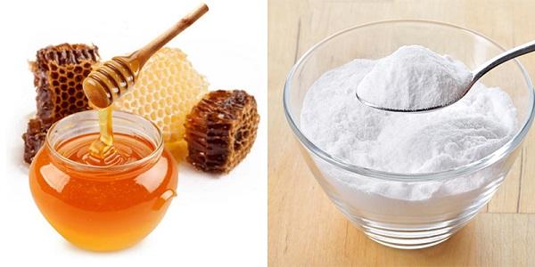 Công thức giảm mụn đầu đen với baking soda và mật ong