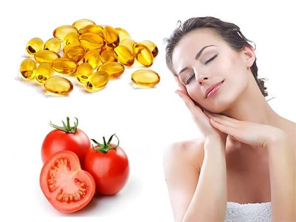 Mặt nạ dưỡng da từ cà chua kết hợp bột nghệ