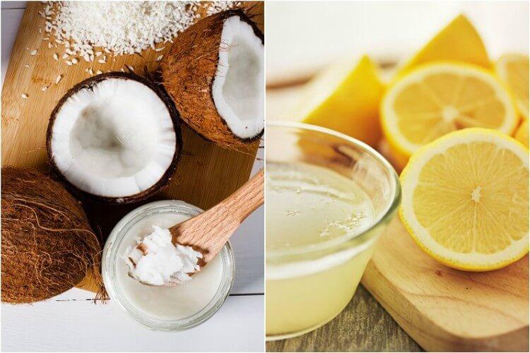 Mặt nạ dưỡng da từ chanh kết hợp dầu dừa