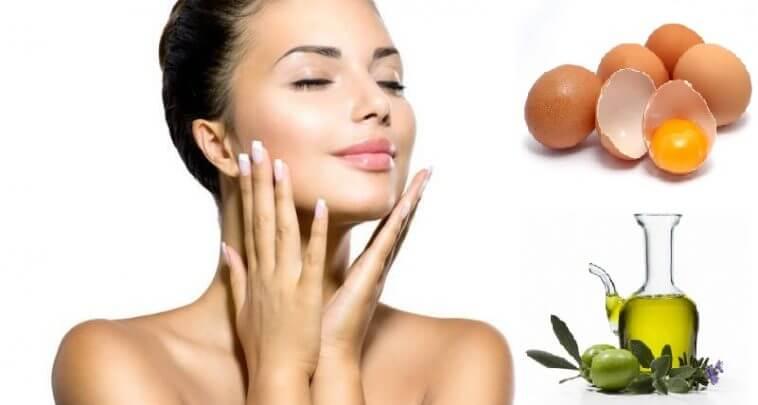 Mặt nạ dưỡng da từ lòng trắng trứng và dầu ô liu