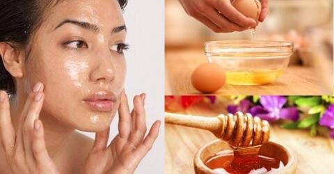 Trị nám da bằng mật ong kết hợp với trứng gà
