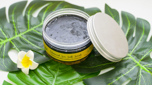 CHARCOAL SEA SALT SCRUB - MUỐI TẮM 1