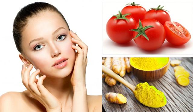 Mặt nạ cà chua trị mụn thâm từ tinh nghệ vàng và mật ong rất hiệu quả