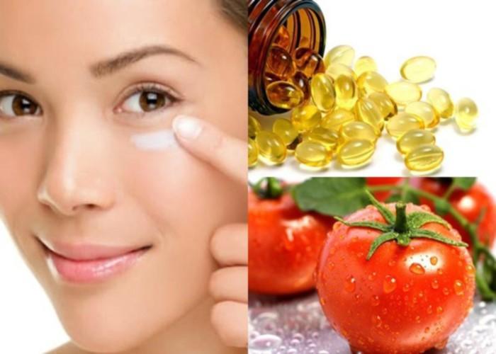 Mặt nạ cà chua, vitamin E giúp giảm thâm an toàn
