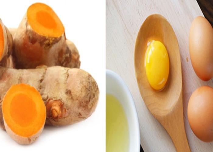 Nghệ với trứng gà vừa giúp giảm mụn vừa làm trắng da