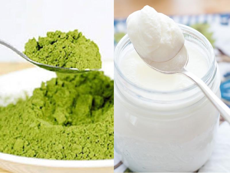 Trà xanh kết hợp với sữa chua có công dụng trị mụn tức thì