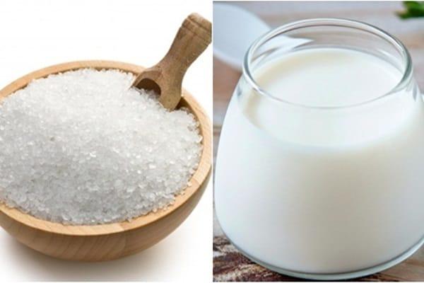 Trị mụn bằng sữa chua và muối trắng