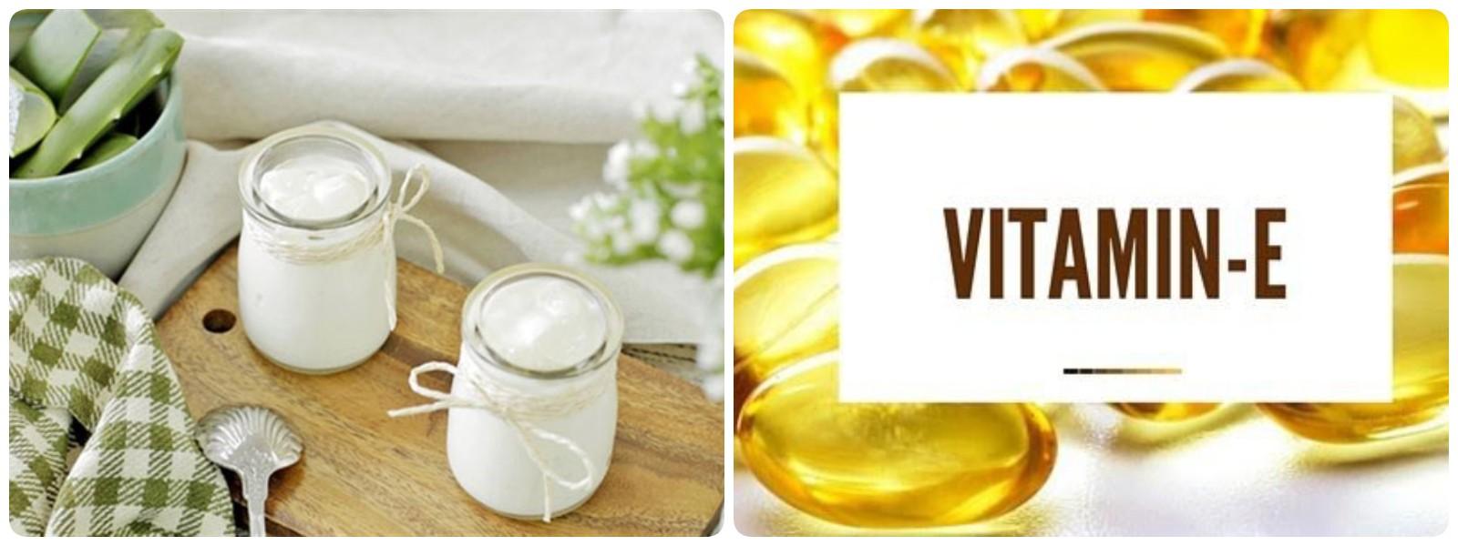 Làm mặt nạ sữa chua kết hợp vitamin E cho da bị thâm mụn