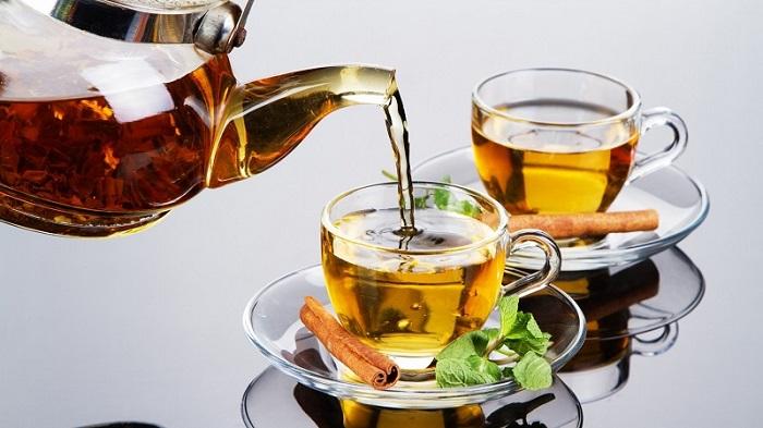 Uống nước trà lá tía tô