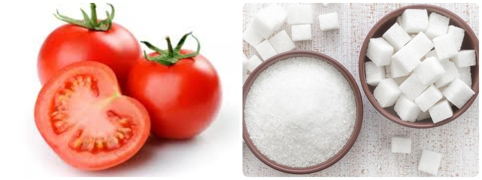 Trị sẹo mụn bằng cà chua kết hợp đường